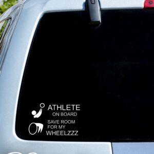 Autosticker 'Athlete on board' – 18x28cm
