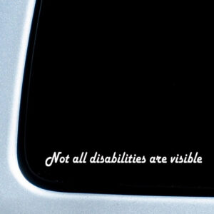 Autosticker 'Not all disabilities are visible' – awareness sticker – 3,5x30cm